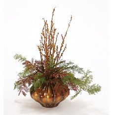 Burnished Bronze Arrangement for the hall table  #Frontgate and #Holidaydecor