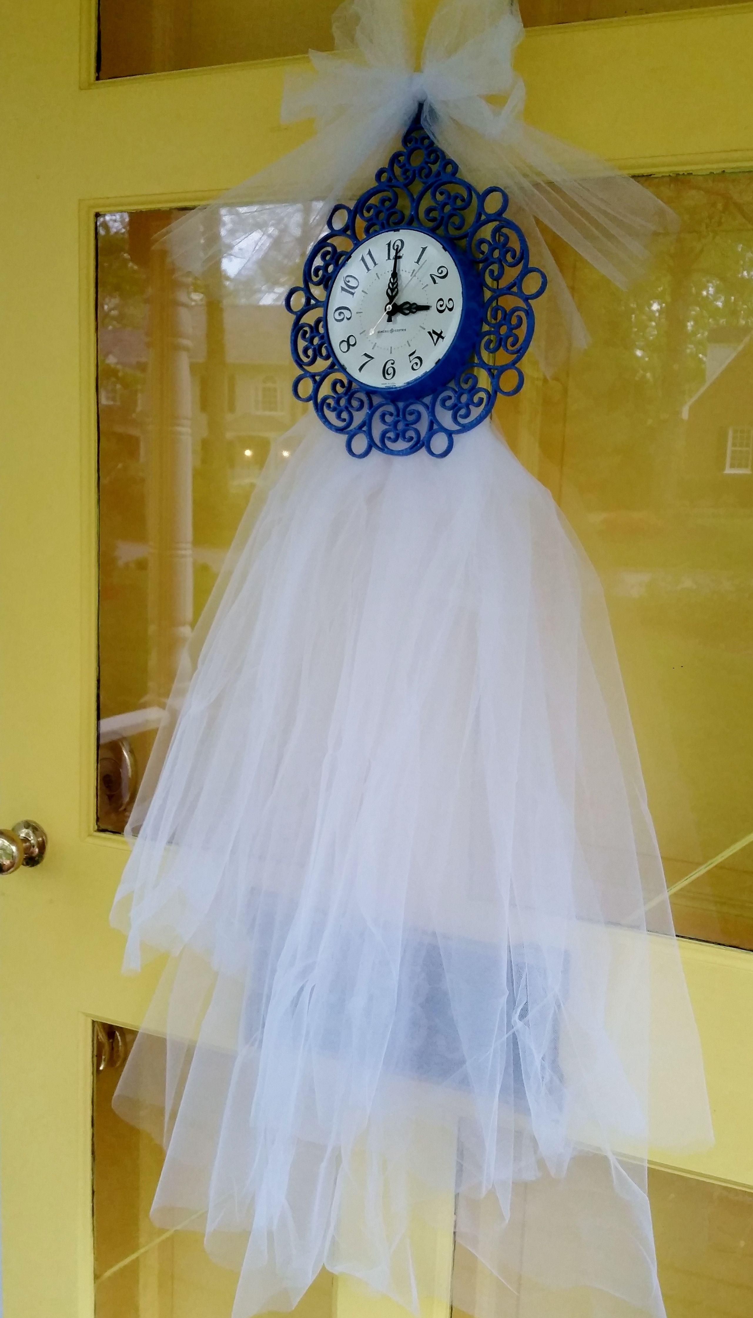 Around the clock bridal shower, bridal shower door decor. Purchased ...