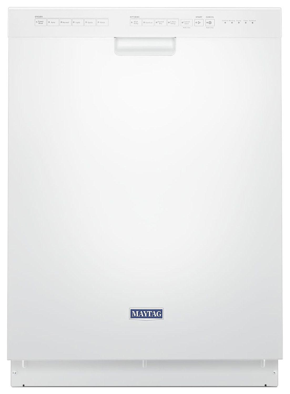 Maytag 24 White Built In Dishwasher Mdb4949shw Built In Dishwasher Steel Tub Maytag