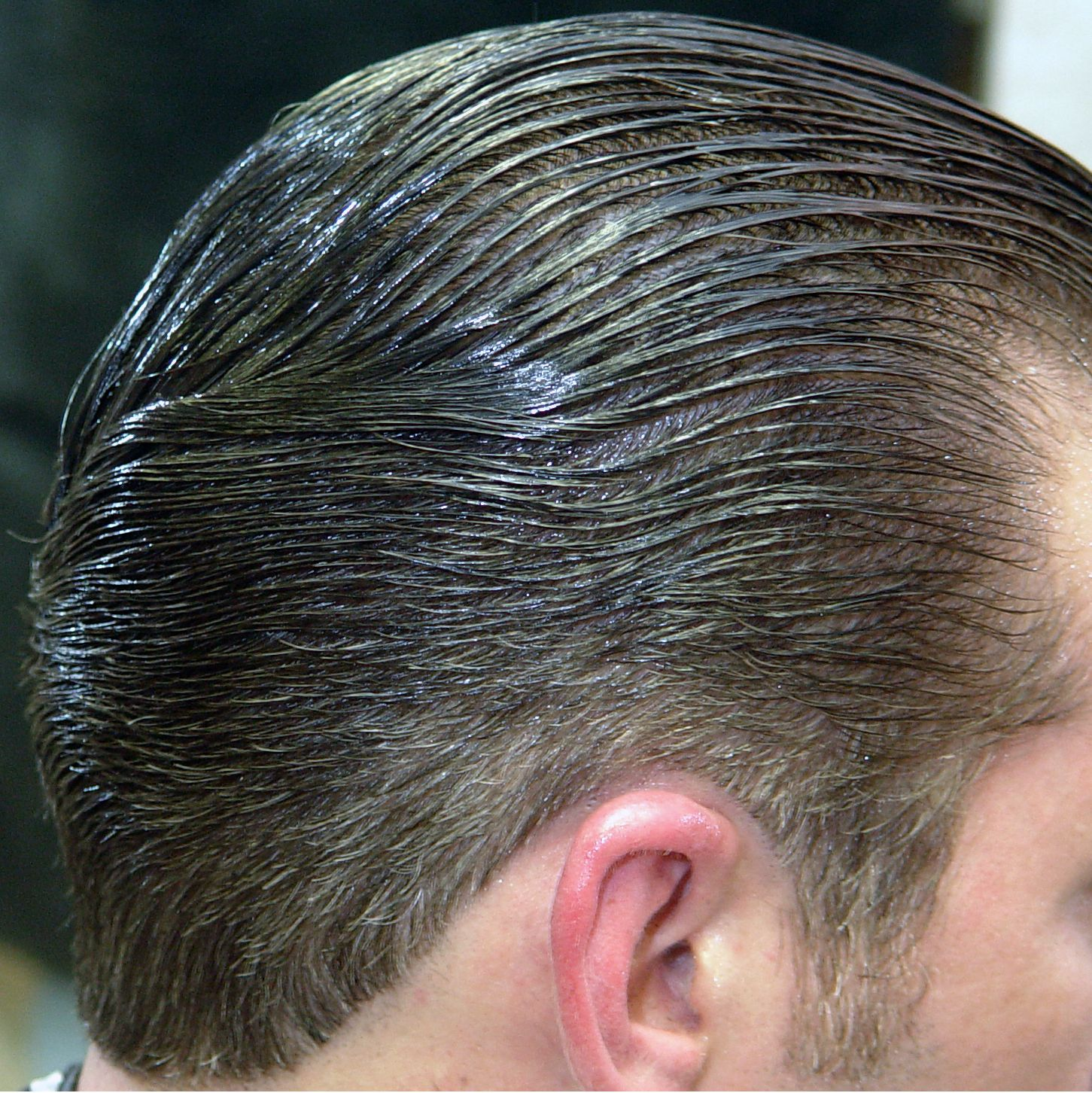 Mens haircut brisbane unknown sexy slick back guy  looking greasy shiny u wet