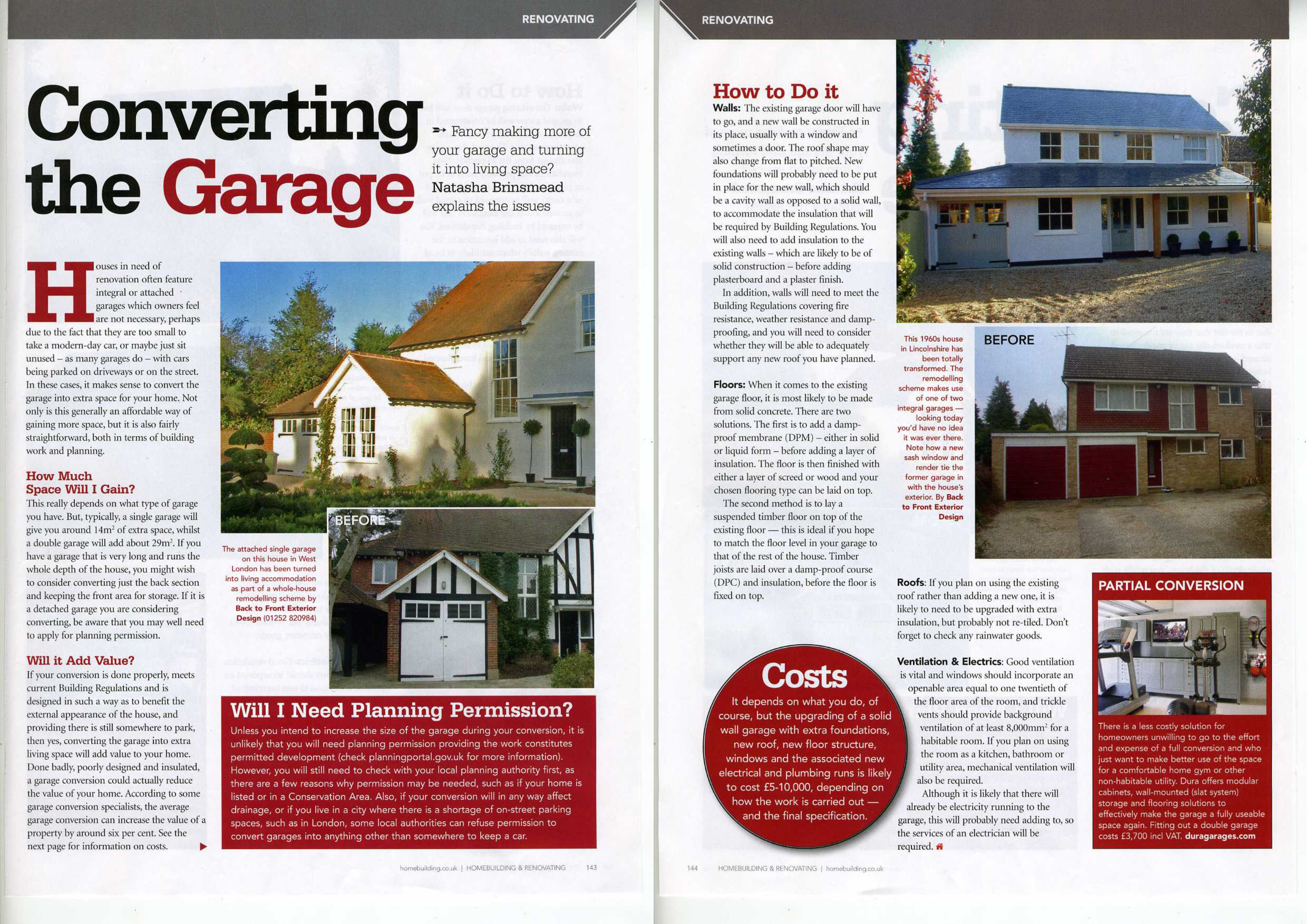 Homebuilding & Renovating Converting the Garage May 2011