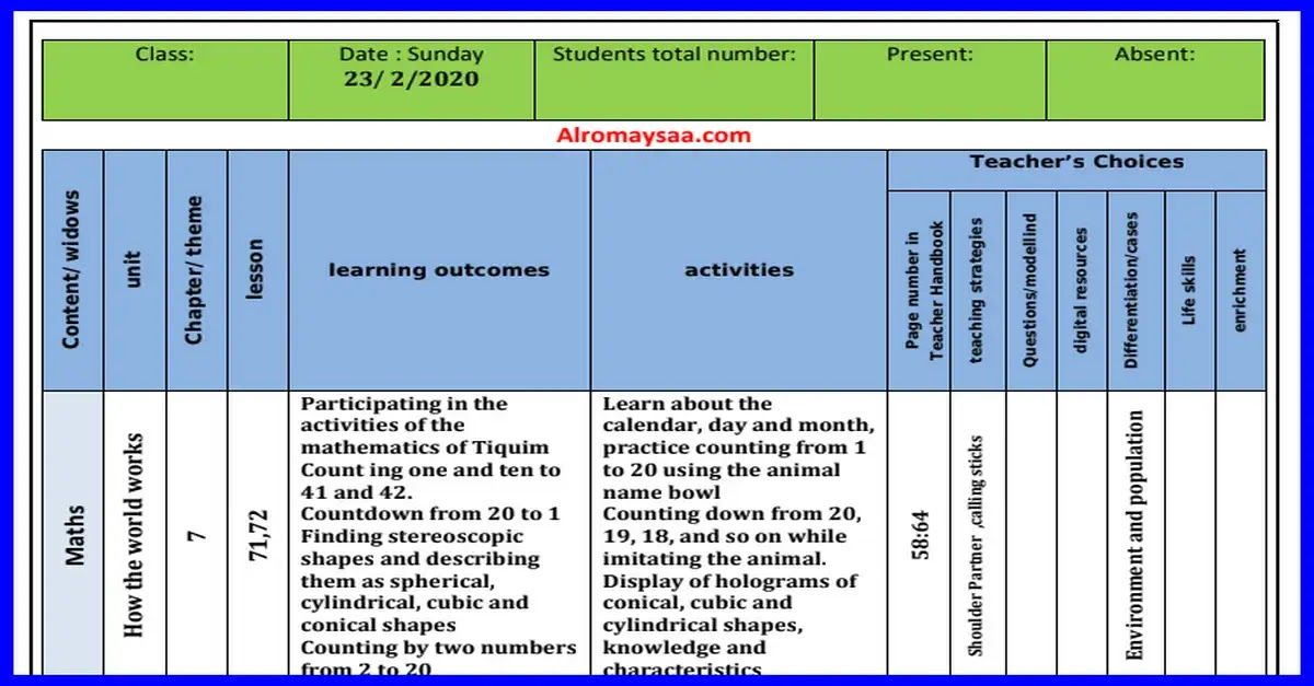 شبكة الروميساء التعليمية تحميل تحضير المستوى الثانى لغات من الاحد 23 فبراير Mathematics Life Skills Teaching