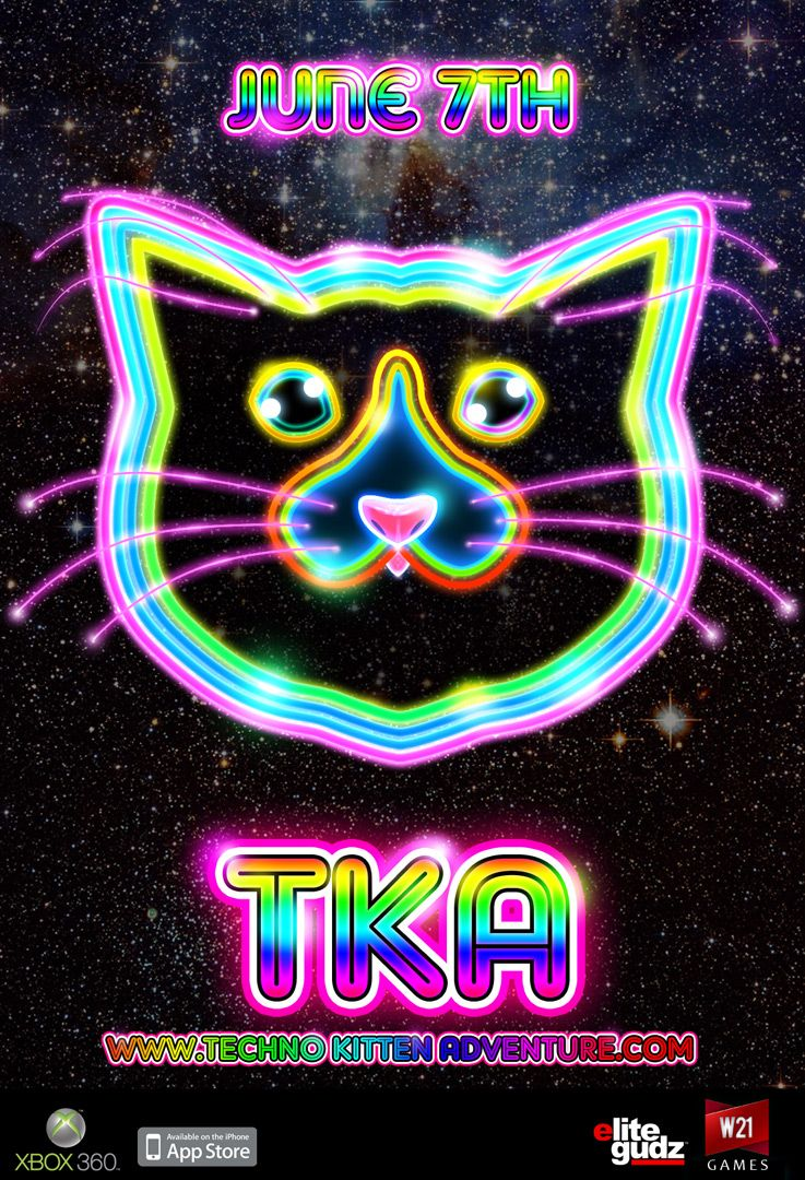 Technokittenadventure Neon Signs Techno Music Xbox Games