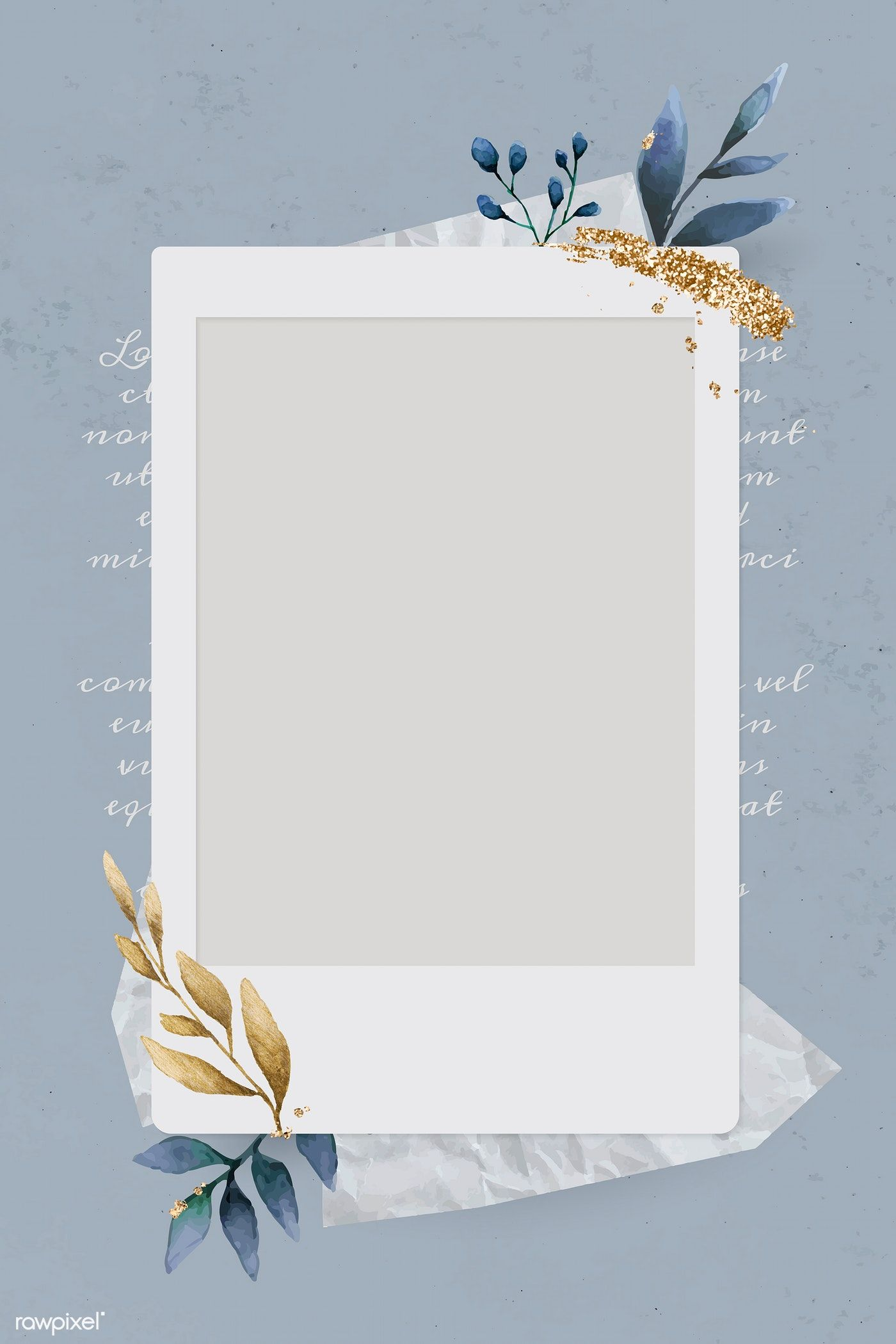 Download Premium Vector Of Christmas Decorated Blank Instant Photo Frame Instagram Frame Template Instagram Photo Frame Photo Collage Template