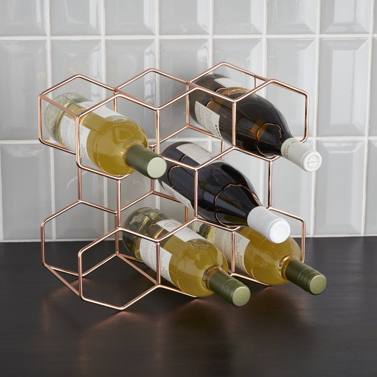 8 Bottle Rose Gold Wine Rack In 2020 Wine Rack Wine Glass