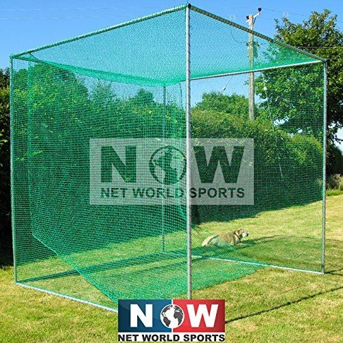This Complete Freestanding Golf Cage By New World Includes Galvanised Frame And Net And Offers A Strong And Long Lastin Golf Practice Golf Hitting Net Golf Net