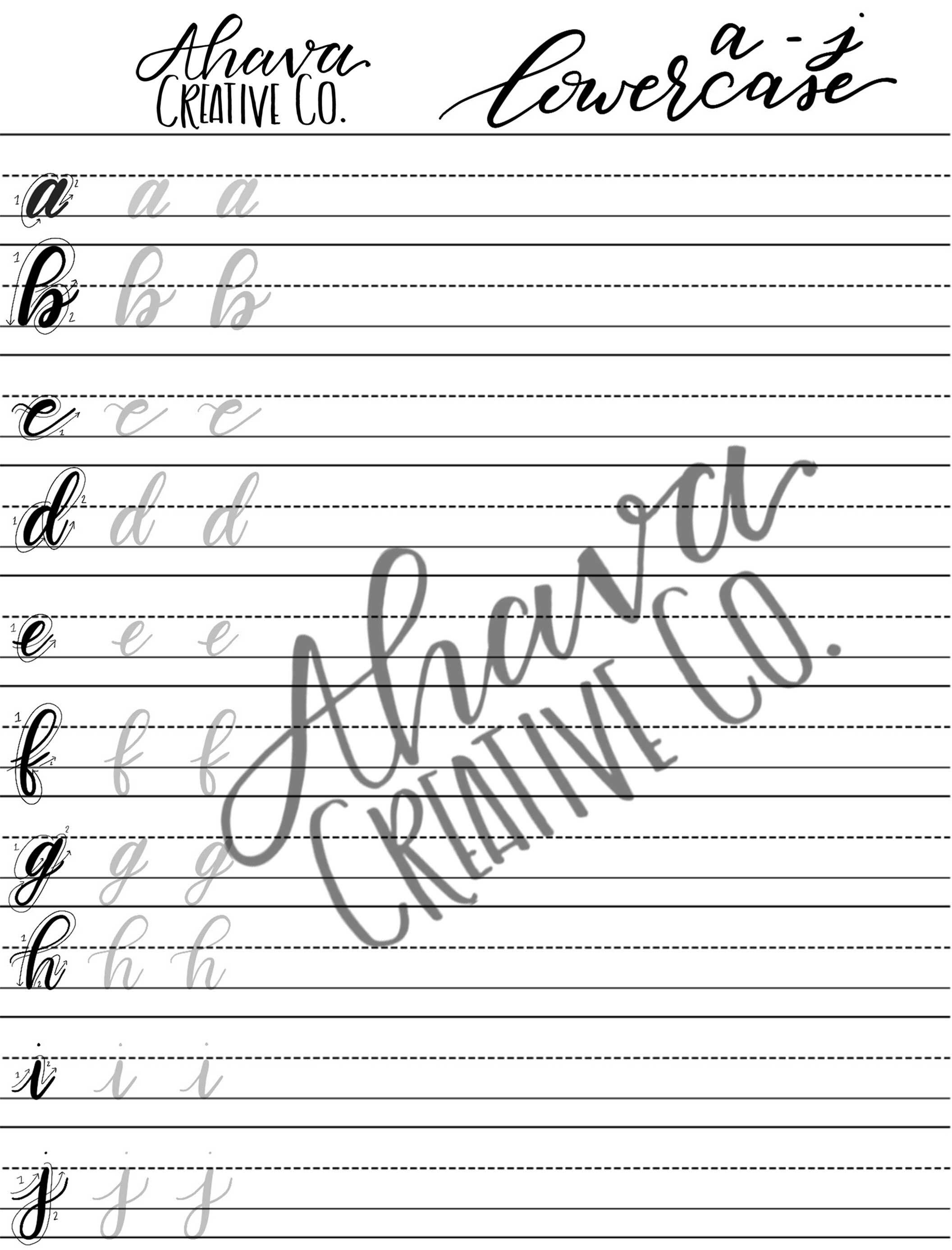 Practice Sheets For Hand Lettering Brush Pen Lettering