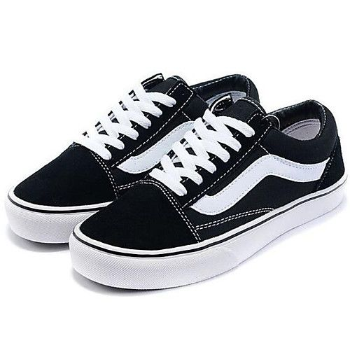 22c70dafc Feminino Sapatos Lona Primavera Outono Conforto Tênis Raso para Casual  Preto - BRL R$46,