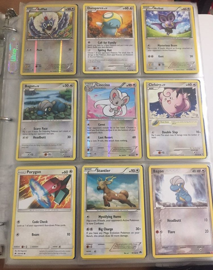 This comes with 30 normal type pokemon cards (Rarity