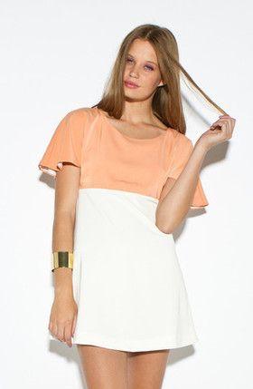 Colour Block Swing Dress