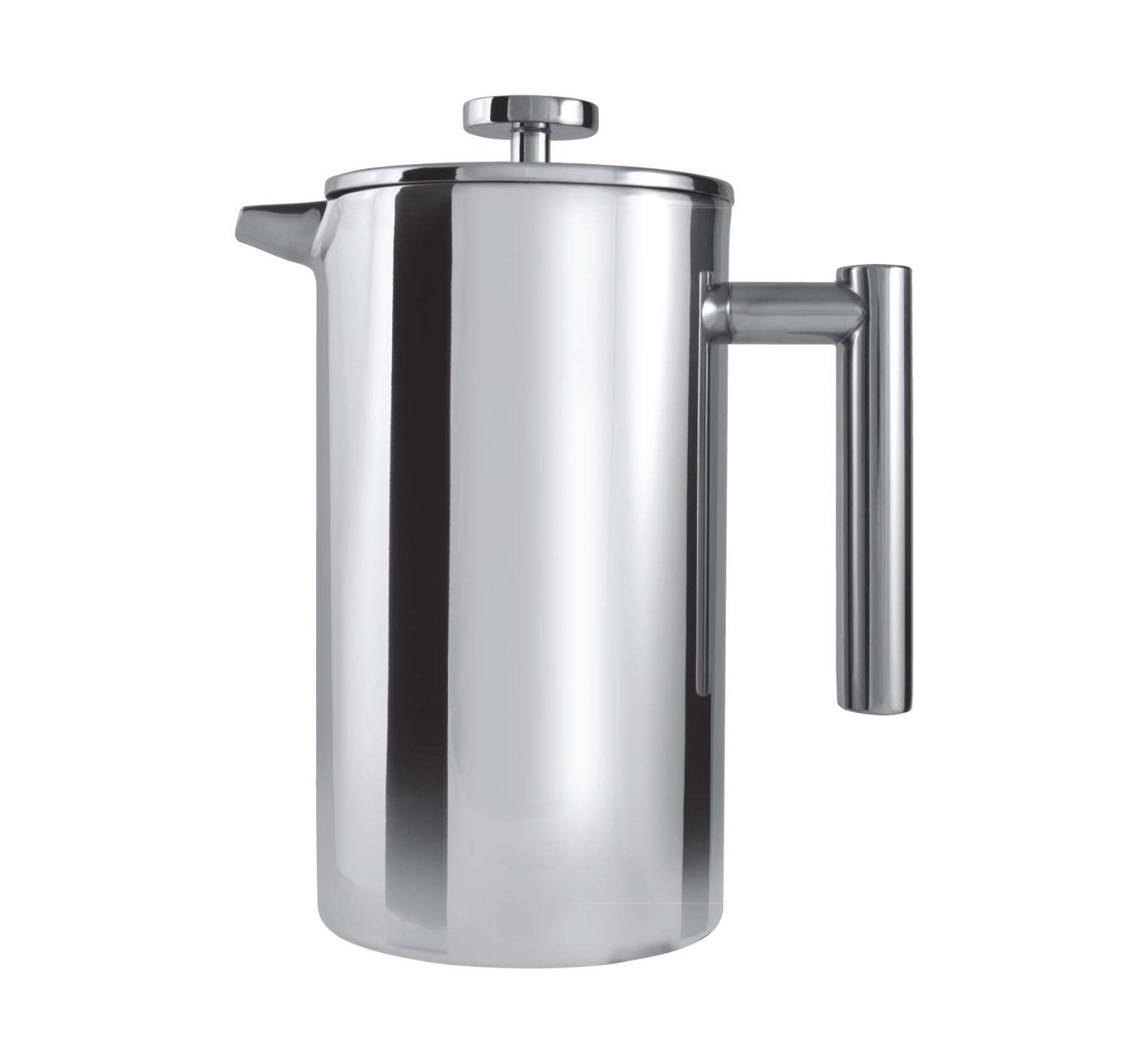 Grunwerg 12 Cup Straight Double Wall Coffee Maker Stainless Steel
