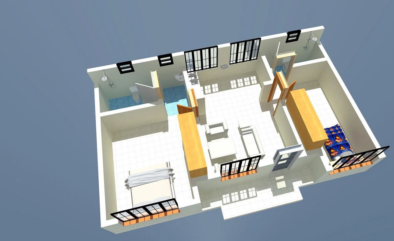 2 Bedroom House Plan Muthurwa Com 2 Bedroom House Plans Bedroom House Plans Two Bedroom House Design