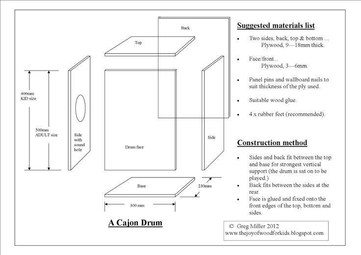 cajon box drum plans - google search | oficina de garagem, percussão,  instrumentos musicais  pinterest