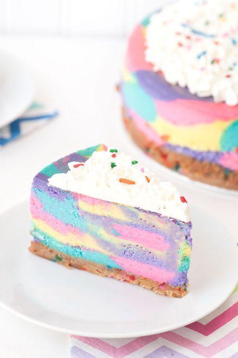 Tie Dye Cheesecake Recipe Sprinkles Cheesecakes and Food