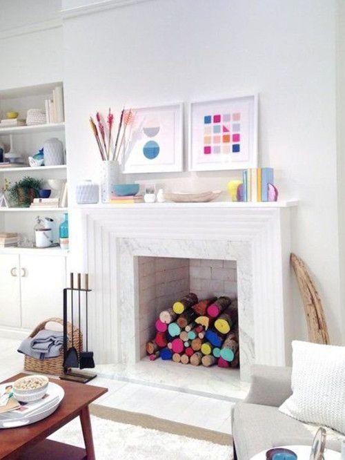 7 formas de decorar una chimenea en desuso Pinterest Ideas para