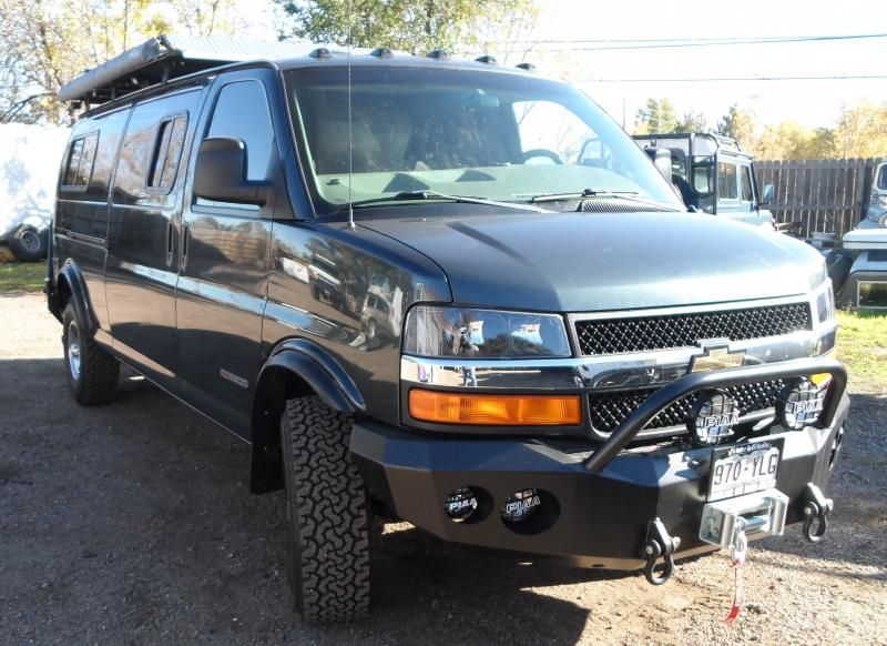 Lift Kit For Chevy Van With Composite Headlight Option Gmc Trucks Chevy Express 4x4 Van