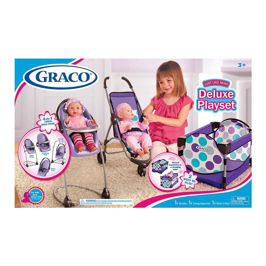 Graco Just Like Mom Deluxe Playset Playset, Baby doll