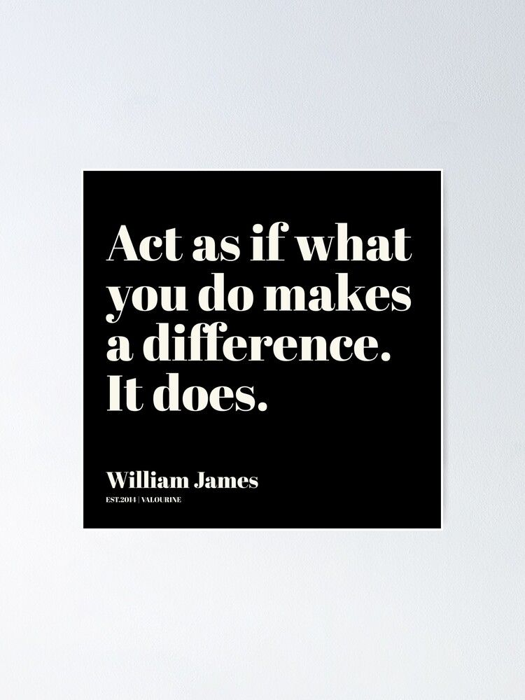 3   | William James Quote| 201025 Father of Psychology Quote  Poster by QuotesGalore