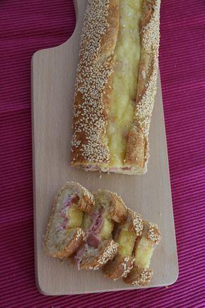 Baguette pour l'apéro Oeuf - Jambon et Fromage #aperodinatoirefacile