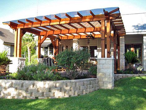 backyard patio ideas | backyard wood patio covers designs | the ... - Wood Patio Designs