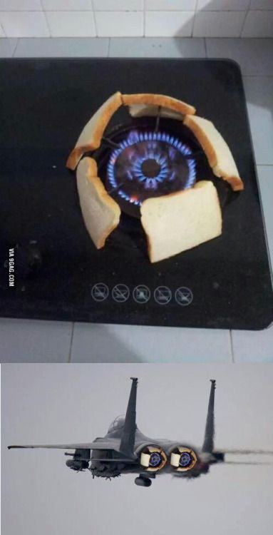 When you dont have a toast machine