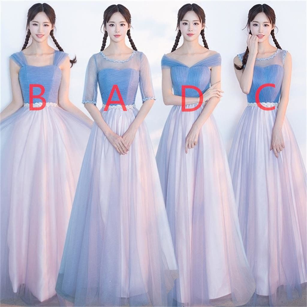 Affordable blue and pink soft tulle long bridesmaid dresses cheap mismatched affordable blue and pink soft tulle long bridesmaid dresses cheap custom long bridesmaid dresses affordable bridesmaid ombrellifo Image collections