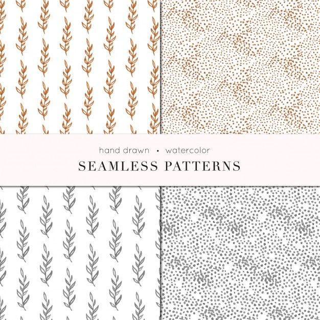 Bronze and gold patterns Free Vector