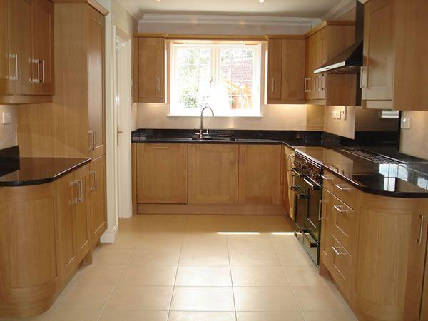 Kitchen Tiles For Oak Kitchen cream floor tiles black granite worktop - google search | kitchen