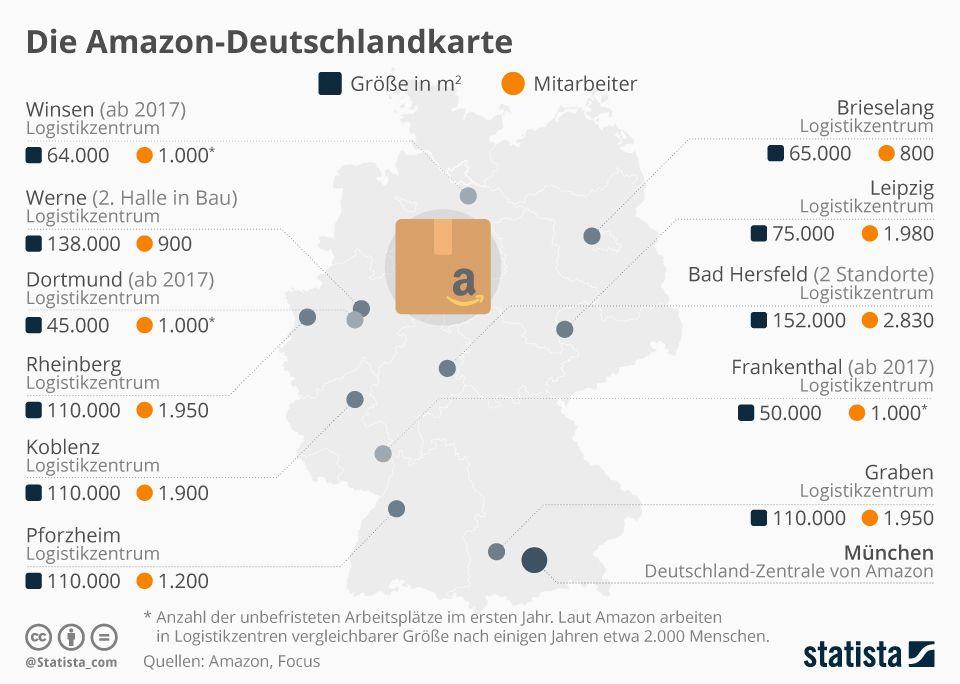 Die Amazon Deutschlandkarte Alle Standorte Von Amazon In