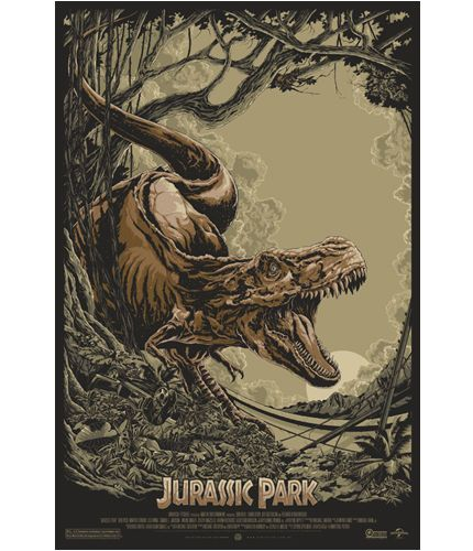Jurassic Park Print by Ken Taylor of Mondo OFFICIAL Poster NUMBERED 475