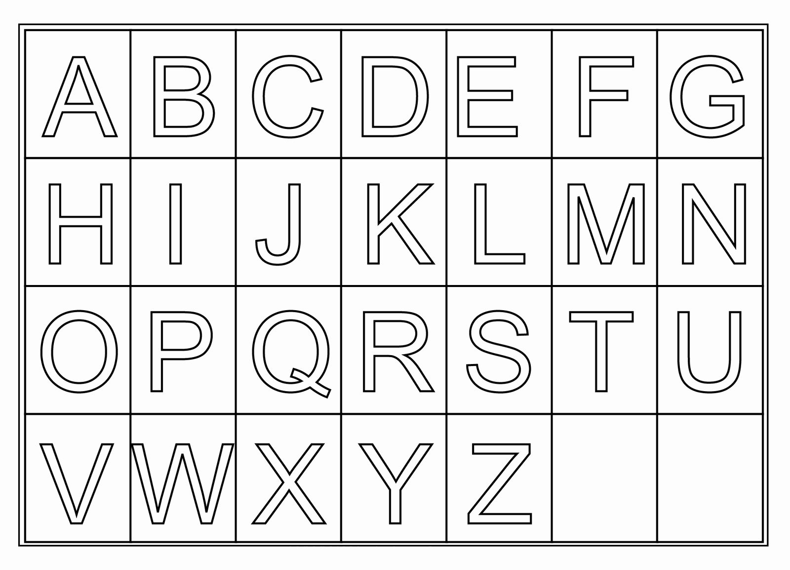 Alphabet Coloring Sheets A Z In