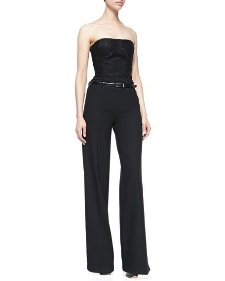 Jason Wu Black Strapless With Belt Romper/Jumpsuit. Free shipping and guaranteed authenticity on Jason Wu Black Strapless With Belt Romper/Jumpsuit at Tradesy. Full-length jumpsuit by Jason Wu. Straight, strap...