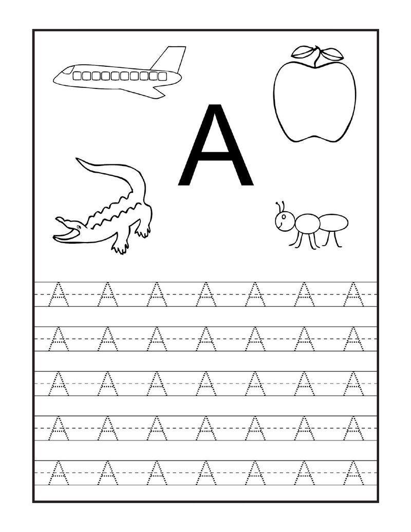 Nauka pisania - litery od A do M dla dzieci, przedszkolaków do ...