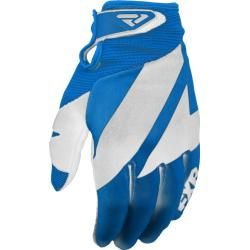 Photo of Fxr Clutch Strap Motocross Gloves White Blue S