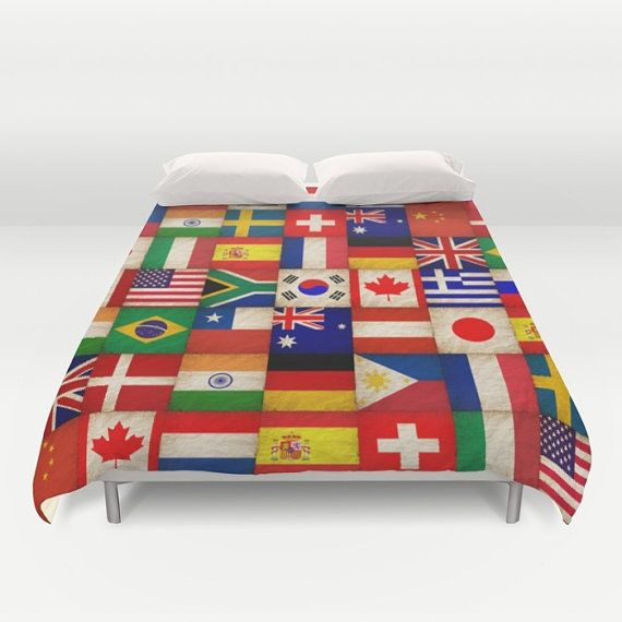 Flags duvet cover world countries nations earth doublefullqueen flags duvet cover world countries nations earth doublefullqueenking bedding bedroom bed home decor home and living gumiabroncs Gallery
