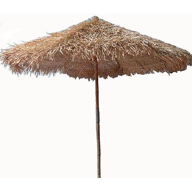 Handcrafted Thatched 9-foot Umbrella (Vietnam) (thatched 9 foot umbrella), Green, Patio Umbrella #largeumbrella