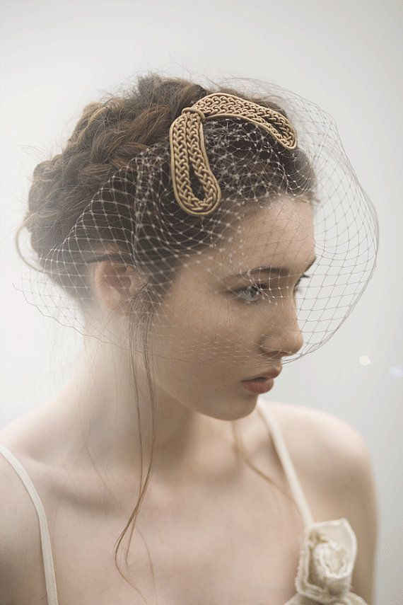 Rare Vintage Millinery Gimp with Birdcage Veil