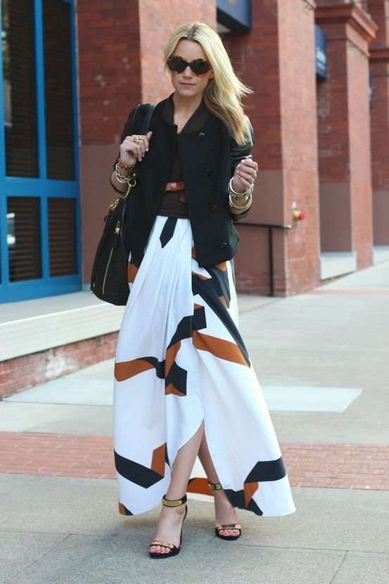 a6bfd5f756c Another gorgeous long skirt (really a maxi dress) from DVF