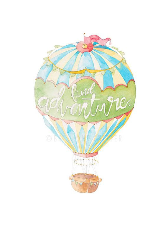 Kids Wall Art Hot Air Balloon Nursery Hot Air Balloon Hot Air
