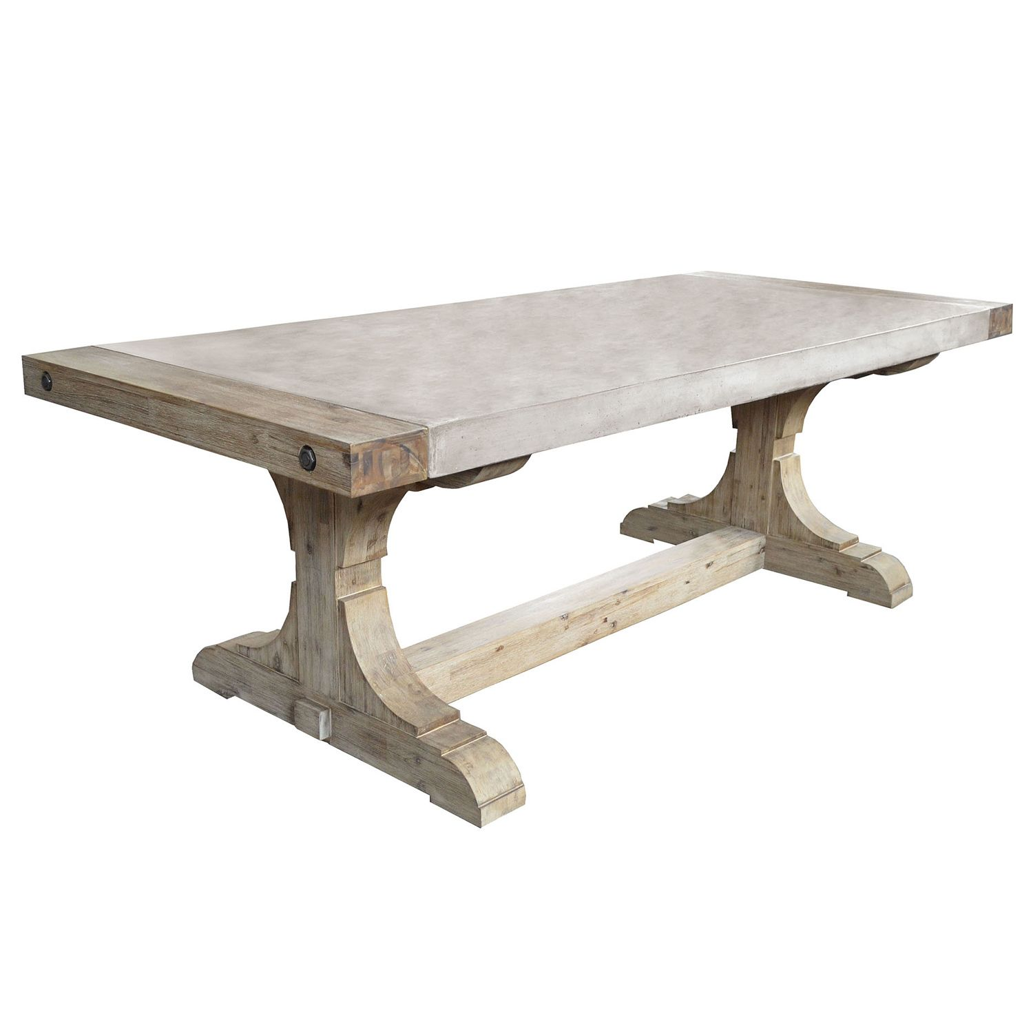 The Pirate dining table offers modern design with an industrial