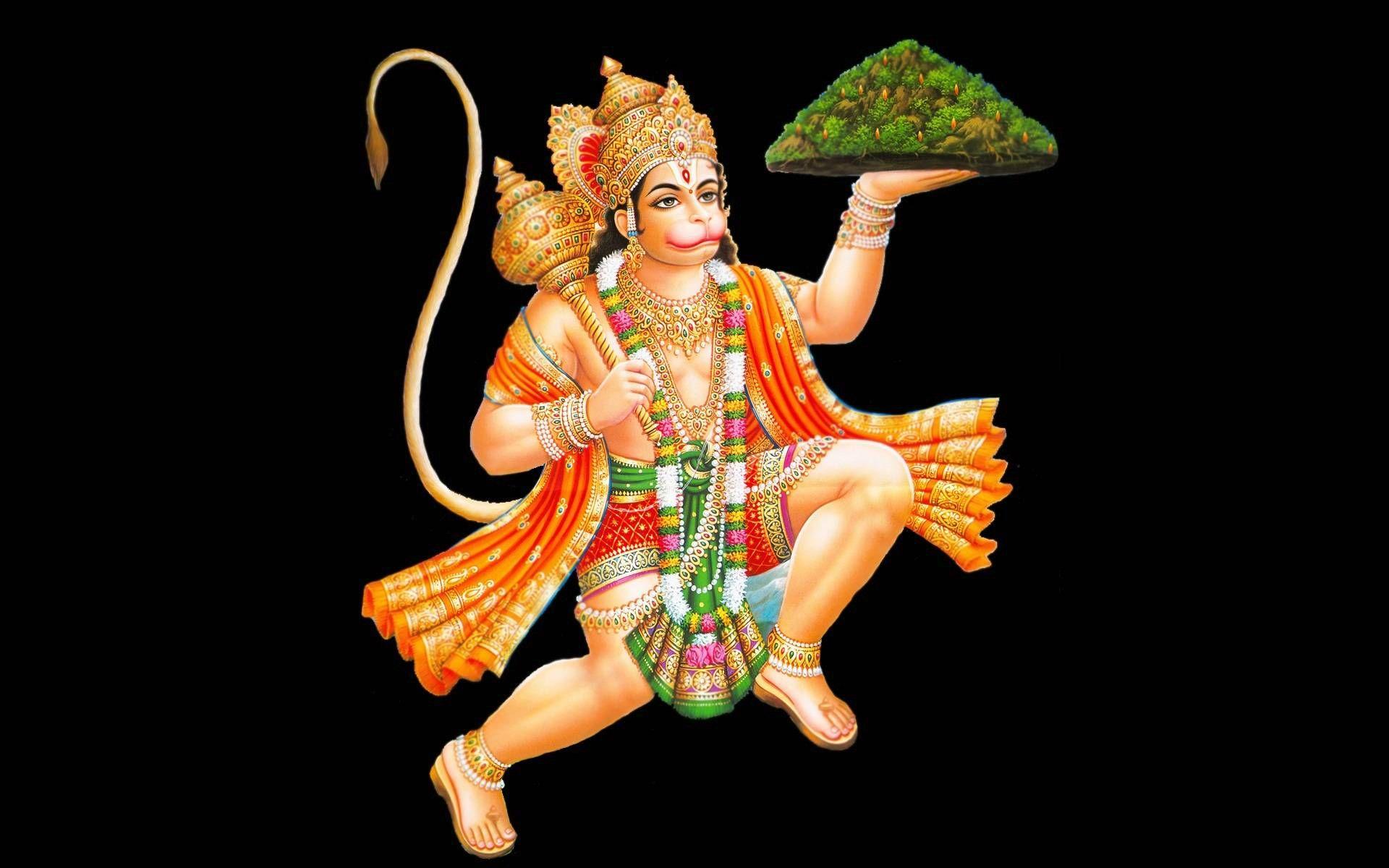lord hanuman mountain taken in hand jai bajrang bali religious