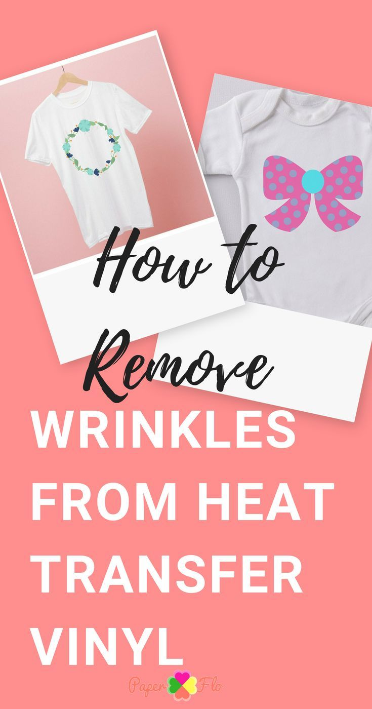 How to fix wrinkled vinyl after washing heat transfer