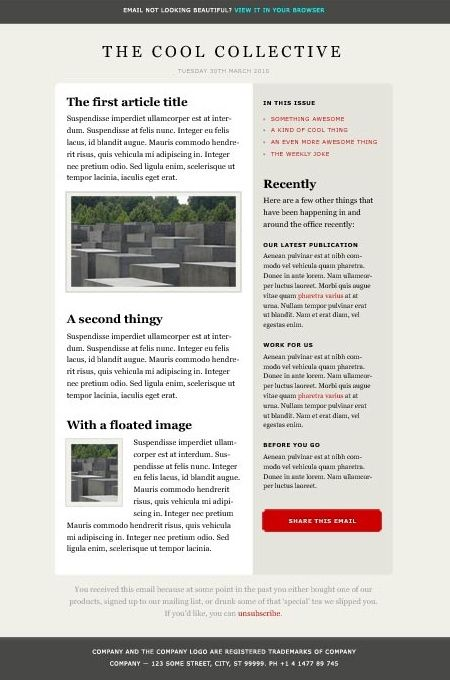 Clean Newsletter Design Newsletter Design Inspiration - office newsletter