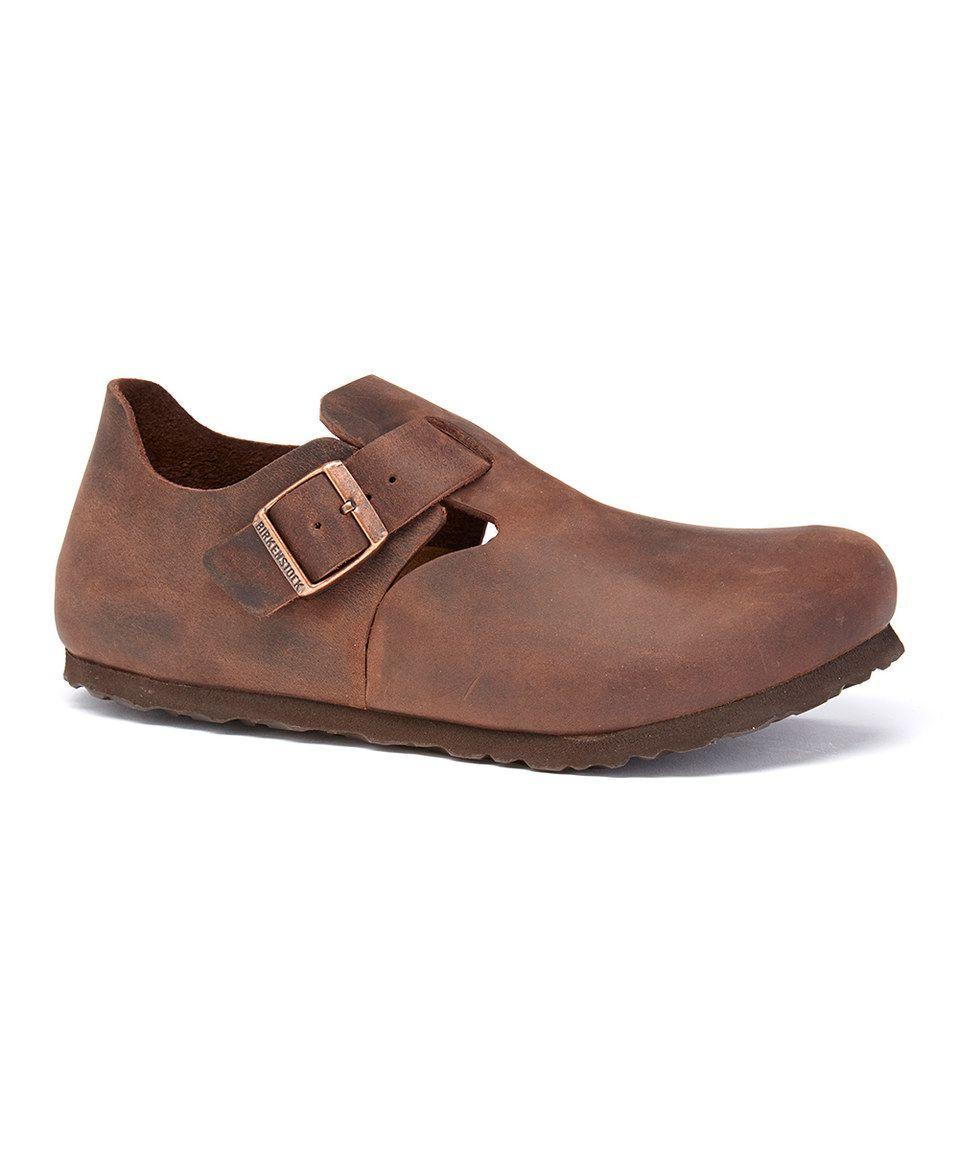 Another great find on #zulily! Birkenstock Brown London Habana Leather Clog by Birkenstock #zulilyfinds