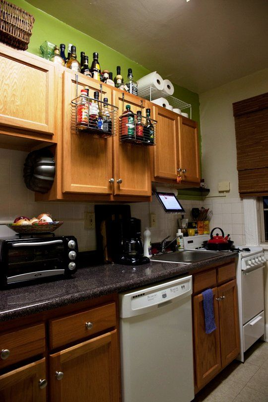 Gail S Sassy Green Rental Kitchen Kitchen Pinterest