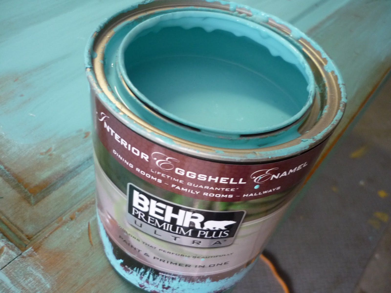 kirklands pinitpretty Tiffany Blue paint color on the walls of my