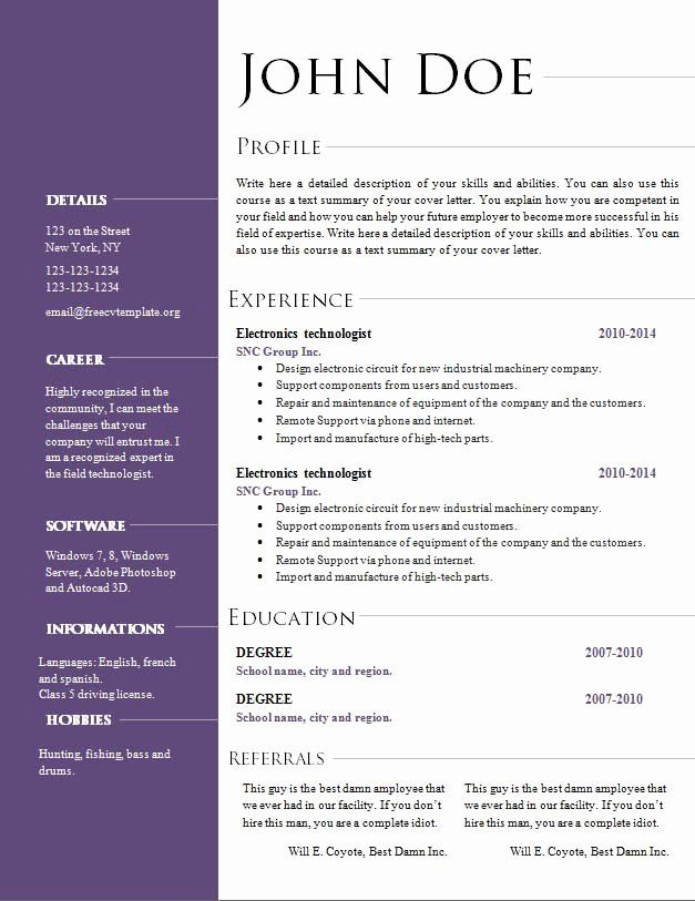 resume template download open office new modele cv open