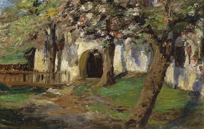 Blossoming apple trees, Olga Wisinger-Florian. Austrian (1844 - 1926)