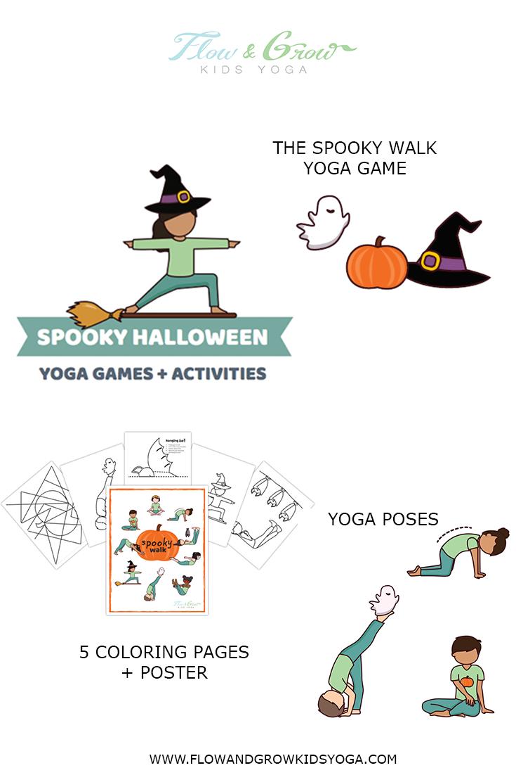 Spooky Halloween Yoga Games And Activities Yoga For Kids Halloween Themed Activities Yoga Games