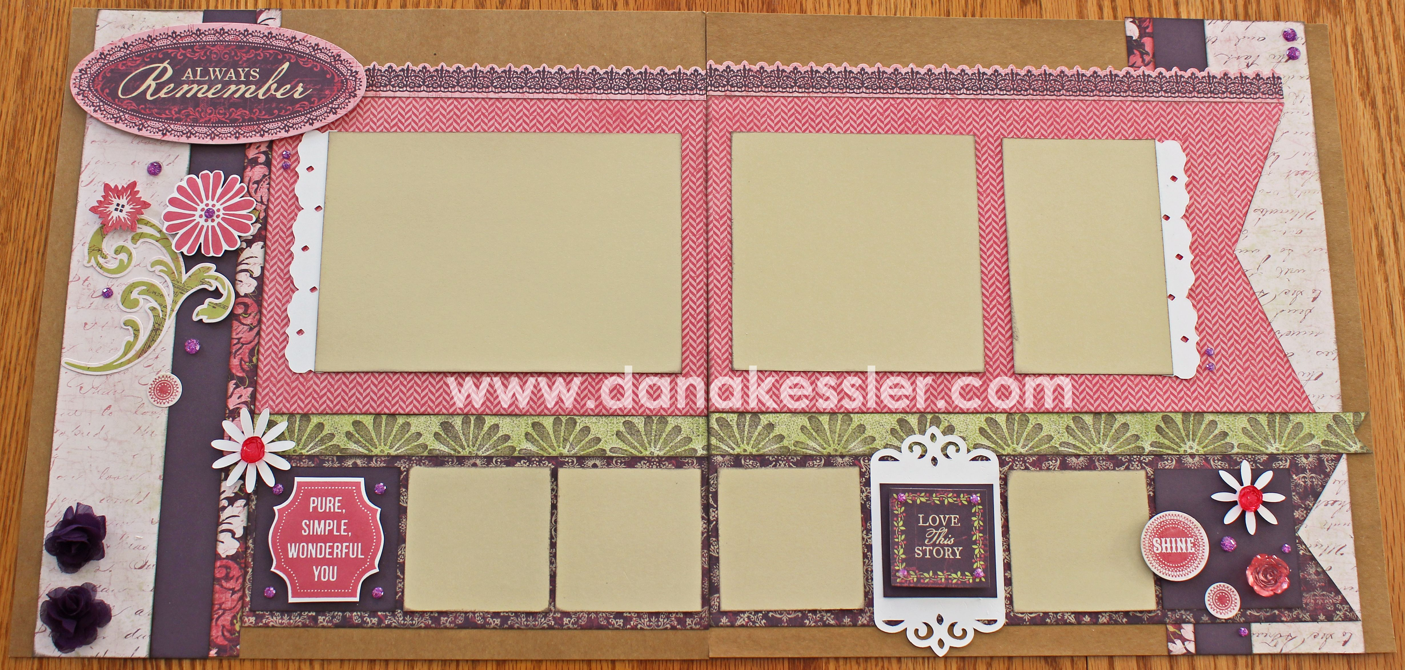 Double Page Scrapbook Layouts Two Page Scrapbook Layout Ivy Lane